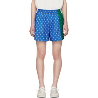 Kenzo Blue And Green Shell Shorts