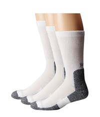Thorlos Lite Running Crew 3 Pair Pack White Black Men's Crew Cut Socks Shoes
