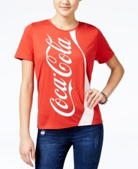 Mighty Fine Juniors' Coca Cola Graphic T Shirt Red