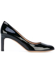 Salvatore Ferragamo Classic Almond Toe Pumps Women Leather Patent Leather 7 Black