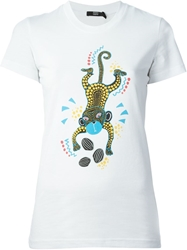Markus Lupfer Tribal Monkey 'Kate' T Shirt White