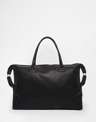 Asos Holdall In Textured Black Faux Leather Black