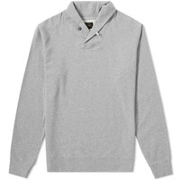 Beams Plus Shawl Collar Sweat Grey