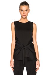 Calvin Klein Collection Alona Knit Top In Black