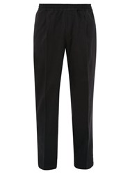 The Gigi King Wool Blend Twill Trousers Black