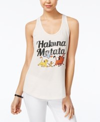 Disney Juniors' The Lion King Sequined Graphic Tank Top Ivory