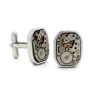 Lc Collection Vintage Silver Watch Movement Cufflinks