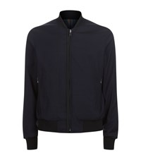 Wooyoungmi Reversible Swirl Bomber Jacket Male Navy