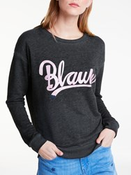 Maison Scotch Blauw Burnout Sweatshirt Black