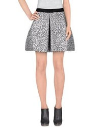 Pinko Black Mini Skirts Mauve