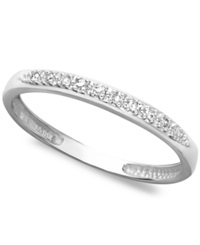 Macy's 14K White Gold Ring Pave Diamond Accent Band