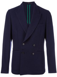 Paul Smith Double Breasted Blazer Blue