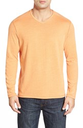 Tommy Bahama 'Sedona Sands' Long Sleeve V Neck Knit T Shirt Apricot Buff