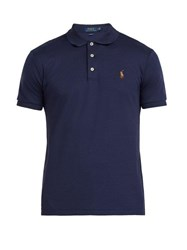 Polo Ralph Lauren Slim Fit Cotton Polo Shirt Navy