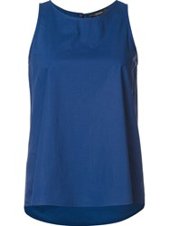 Odeeh Classic Relaxed Fit Tank Top Blue