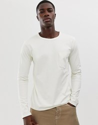 Selected Homme Long Sleeve Pocket T Shirt With Drop Shoulder Grey