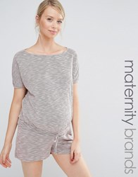 Bluebelle Maternity Lounge Relaxed Playsuit Pink