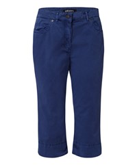 Olsen Straight Cropped Trousers Navy