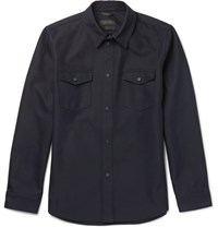 Calvin Klein Collection Forge Twill Overshirt Navy