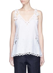 Theory 'Wiola' Cutwork Embroidery Camisole White