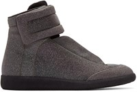 Maison Martin Margiela Black Glitter Future High Top Sneakers