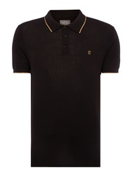 Peter Werth Bernwell Plain Polo Slim Fit Polo Shirt Black
