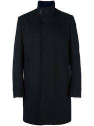 Kenzo Funnel Neck Coat Black