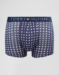 Tommy Hilfiger Icon Stretch Trunks In Nyc Star Print Navy