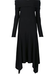 Derek Lam Strapless Handkerchief Hem Dress Black