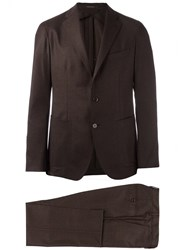 Tagliatore Two Piece Suit Brown