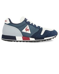 Le Coq Sportif Blue Omega Suede And Mesh Sneakers