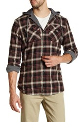 Globe Alford Contrast Hooded Plaid Shirt Green