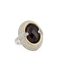 Jude Frances Smoky Topaz Cocktail Ring W White Sapphires