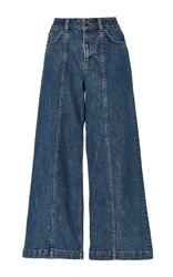Saloni Loulou Crop Denim Jean Dark Wash