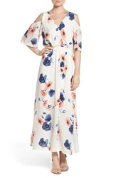 Fraiche By J Women's Cold Shoulder Maxi Dress