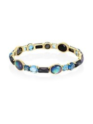 Ippolita Rock Candy All Stones And 18K Yellow Gold Bangle Blue Topaz