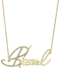 Sis By Simone I Smith Crystal Blessed Pendant Necklace In 18K Gold Over Sterling Silver