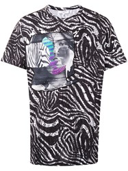 Les Benjamins Printed T Shirt Men Cotton M Black