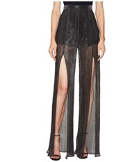Just Cavalli Sheer Slit Pants Black Women's Casual Pants