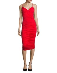 Bailey 44 Cumbia Ruched Bodycon Dress Chili