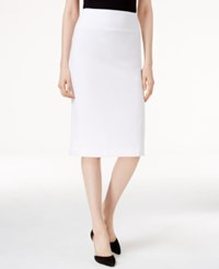 Alfani Classic Pencil Skirt Only At Macy's Bright White