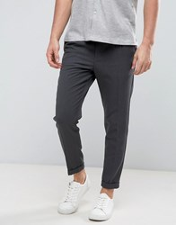 Casual Friday Pleated Front Trousers Dark Grey Melange