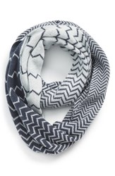Women's Halogen Chevron Jacquard Wool And Cashmere Infinity Scarf