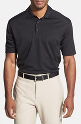 Men's Big And Tall Cutter And Buck 'Genre' Drytec Moisture Wicking Polo Black