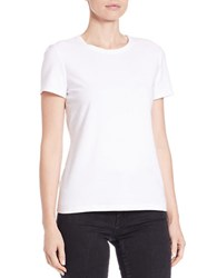 Lord And Taylor Petite Cotton Blend Crewneck Tee White
