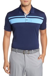 Bobby Jones Men's R18 Tech Rondon Stripe Front Polo Navy
