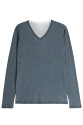 Majestic Cotton Cashmere Layered Top Gr. M
