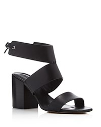 Rebecca Minkoff Christy Ankle Tie Back High Heel Sandals Black