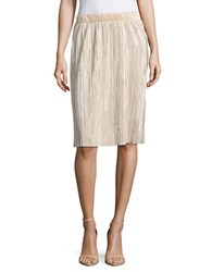 Vero Moda Ribbed Metallic Skirt Moonlight