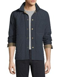Billy Reid Leroy Quilted Shirt Jacket Navy